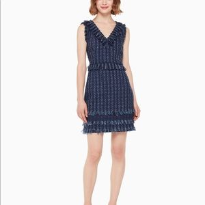 Kate Spade Jasmeen Tweed Fringe Mini Dress